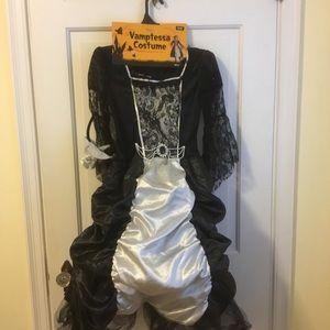 Girls Vampire Costume Dress Headband/Veil NEW